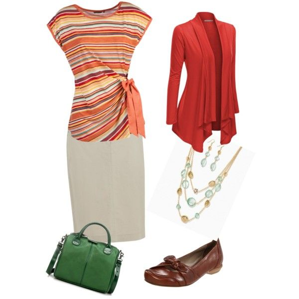 3 Seasons - Red, Orange, and Touch of Green by thirty-something-mom on Polyvore featuring polyvore, fashion, style, Sandwich, Doublju, Dash, Everybody and Zara