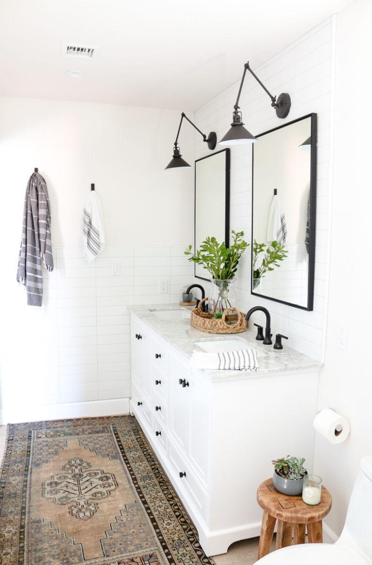 Modern Farmhouse Master Bathroom Renovation with Delta