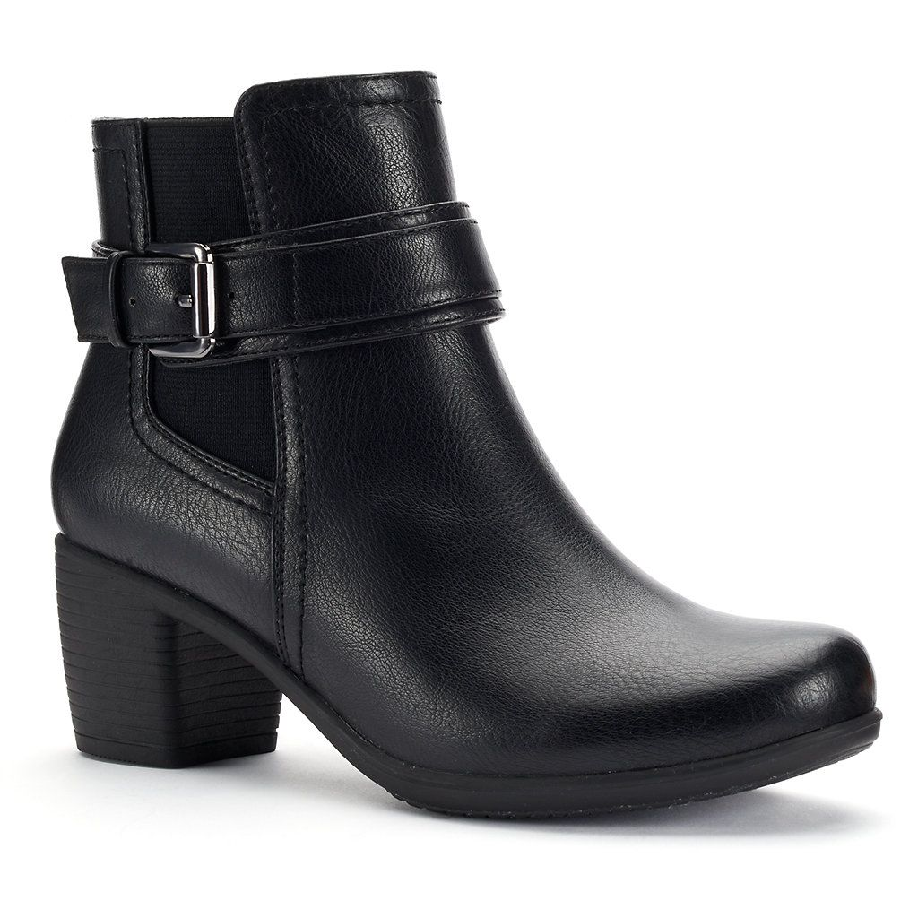 5b0419fe34 Croft & Barrow® Women's Comfort Buckle Ankle Boots | Shoes | Buckle ...