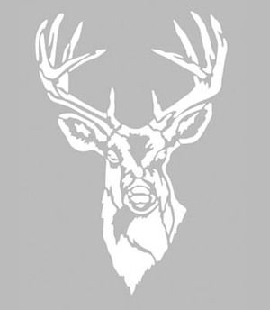 Pochoir adh sif 28 x 20 cm portrait cerf pochoir tissus - Dessin bois de cerf ...