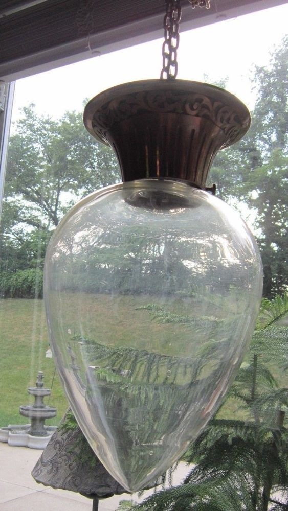 ** Hanging SHOW GLOBE ** teardrop style showglobe pharmacy apothecary bottle jar