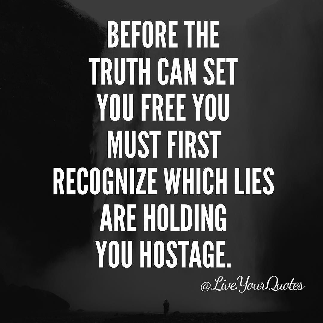 The truth is, you let go first
