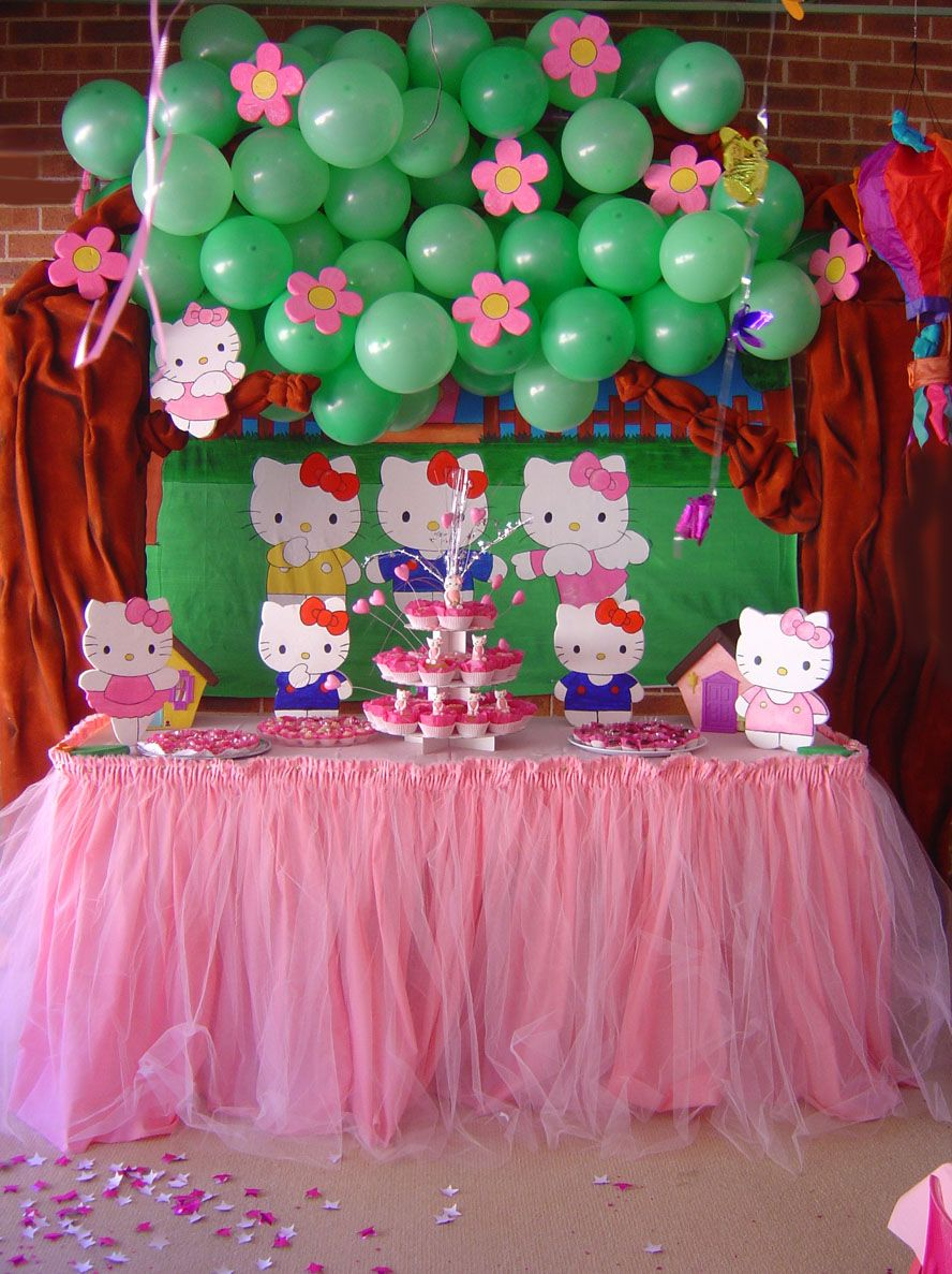 Hello Kitty Party Decoration By Verusca Deviantart Com On