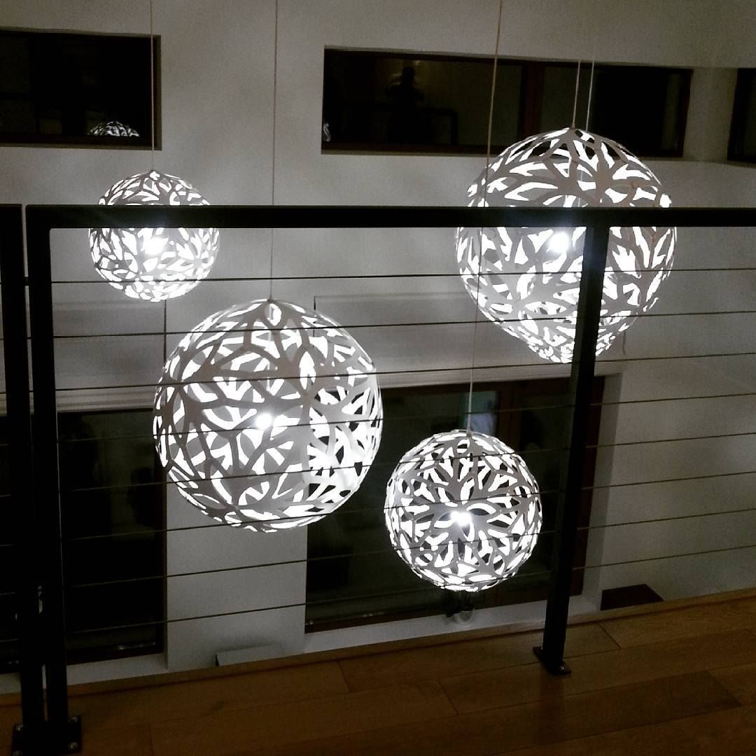 David Trubridge FLORAL Pendant Lights Blooming White At Night - Where to buy pendant lights
