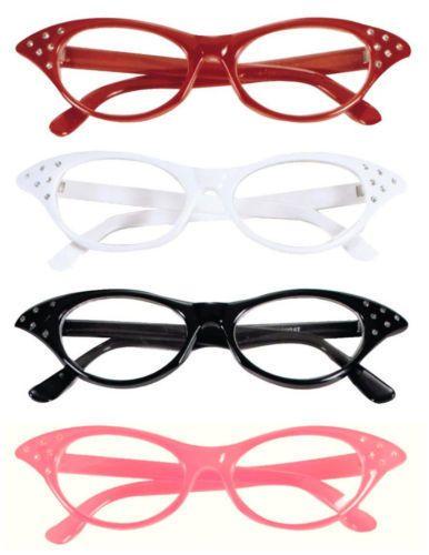 Ladies pink grease /& rock roll 50s glasses fancy dress fly away