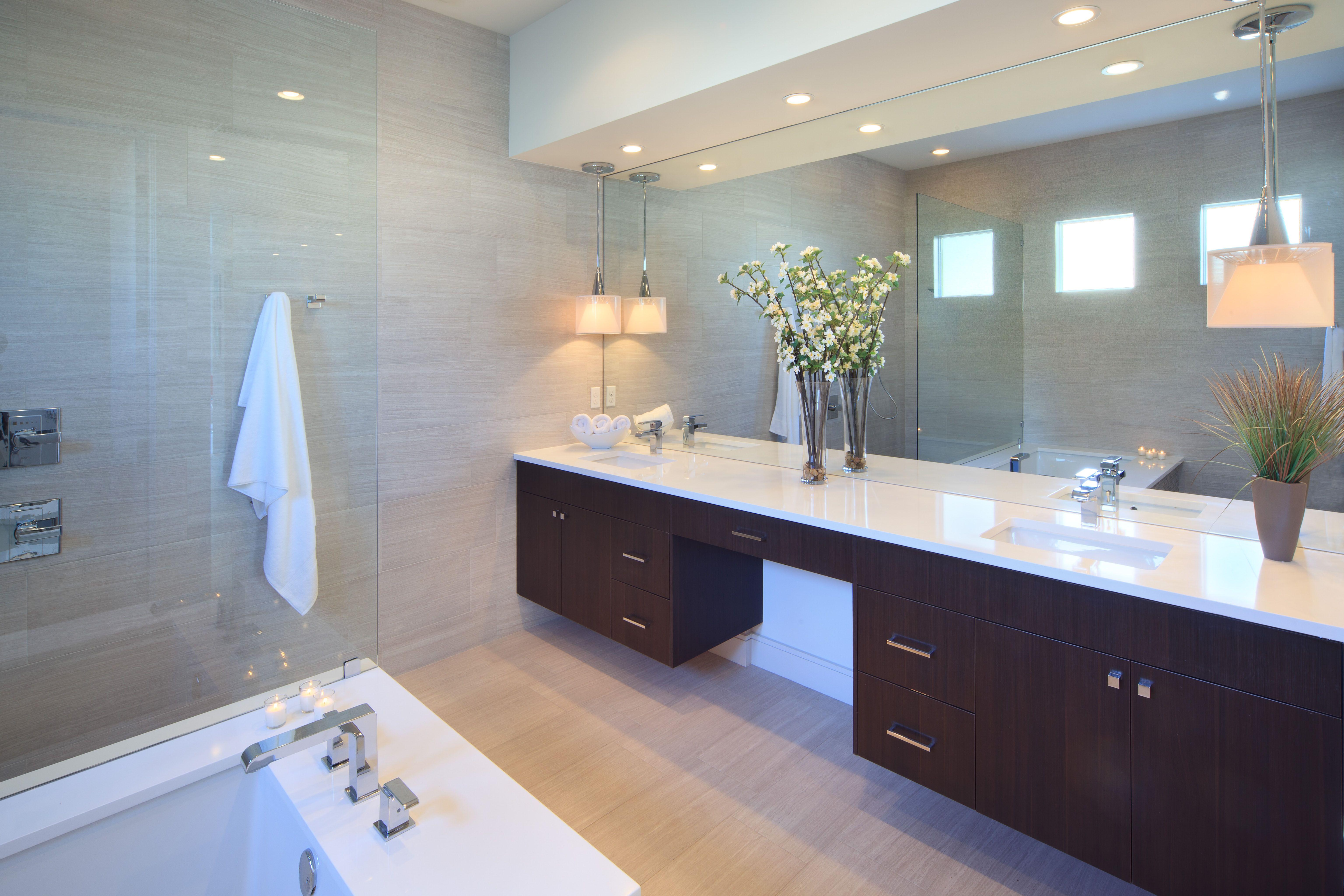 vanity in master bath with images lighted bathroom on custom bathroom vanity mirrors id=34390