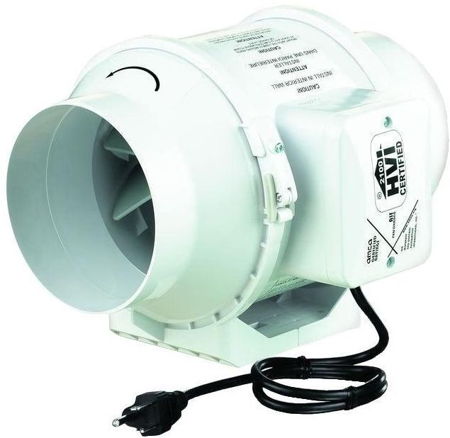 Inline 4 In. Duct HVAC Ventilation Circulation Compact 2 ...