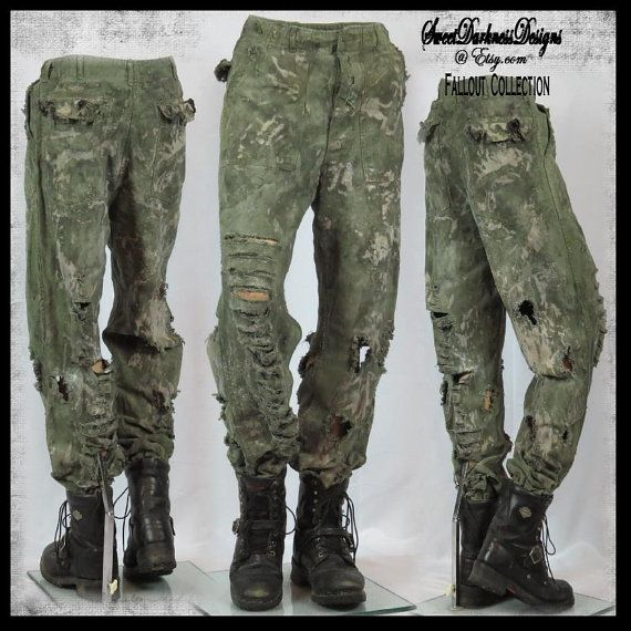 Men/'s Steampunk Victorian Post Apocalyptic Mad Max Military Brown Pants