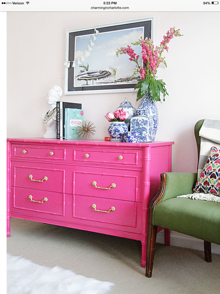I like the style of this piece of furniture and the pop of color ...