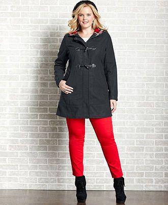 dollhouse plus size coat, hood toggle - plus size coats - plus