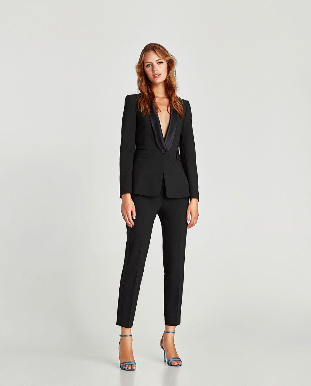Black tuxedo blazer from Zara - 99.90 CAD | Business ...
