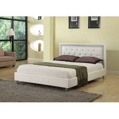 Willa Arlo Interiors Elliana Upholstered Platform Bed Size: Queen ...