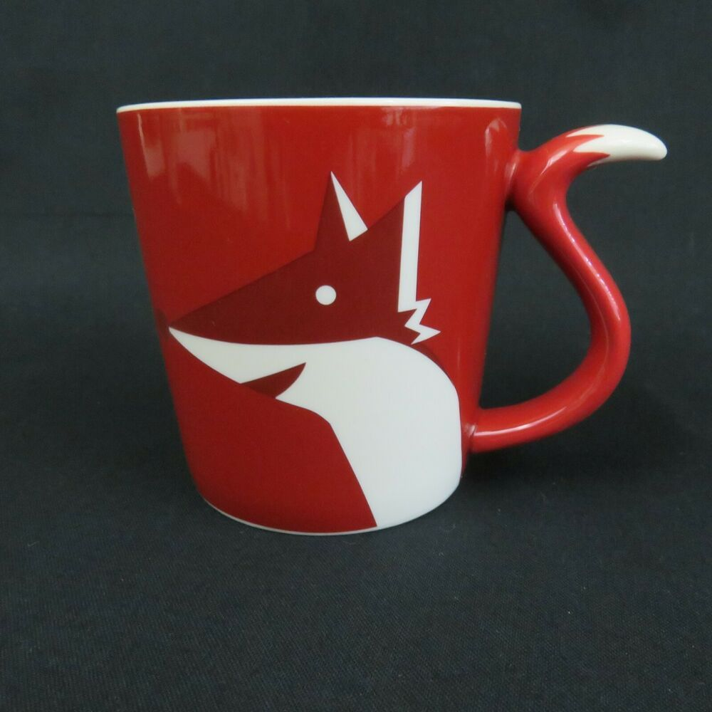 Starbucks Red Fox Coffee Mug Cup 2012 Tail Handle 8 Oz Small Espresso Tea Starbucks Christmas Mugs Mugs Starbucks Coffee