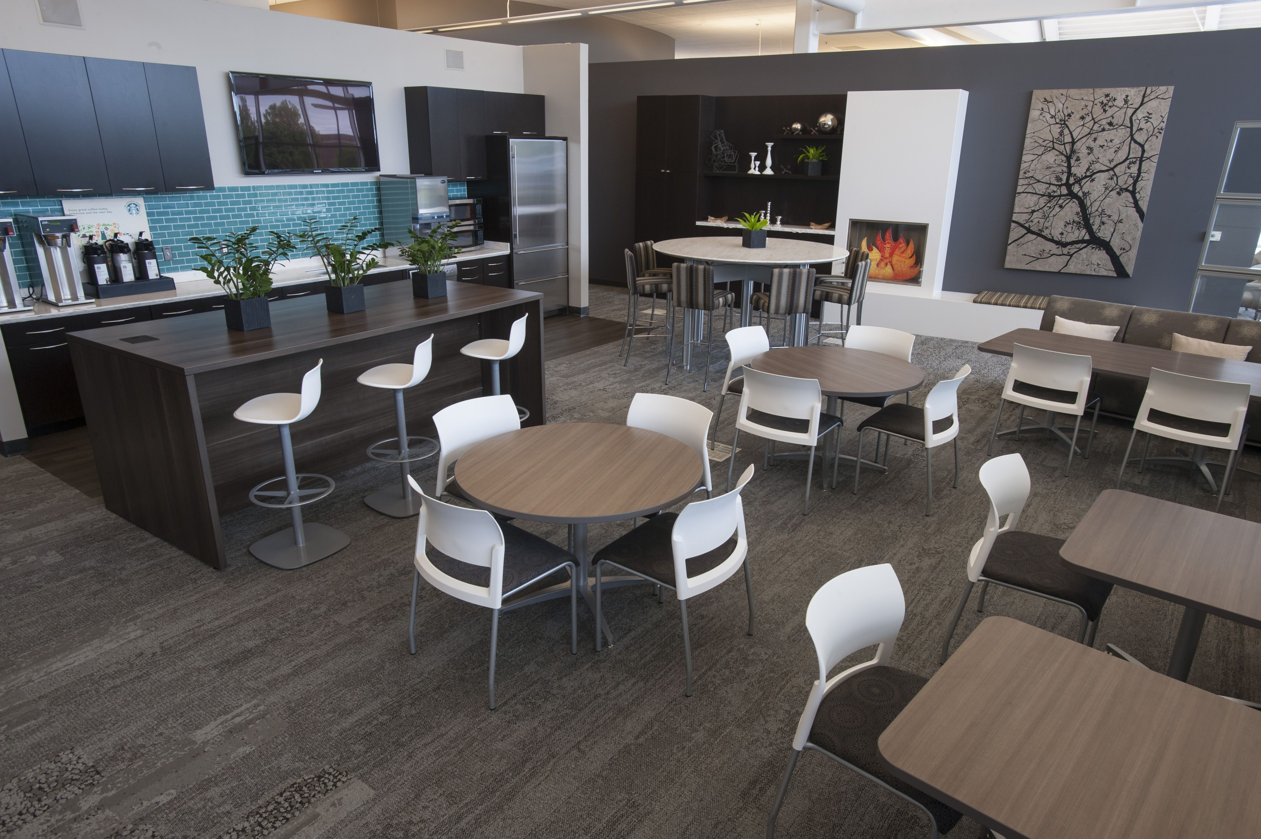 work lounge cafe featuring coalesse enea lottus stools and chairs