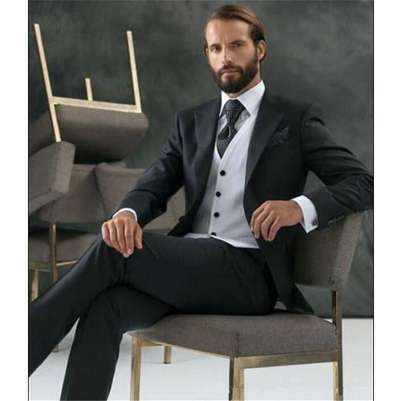 2017 terno Groom Custom Made Prom wedding suits for men Clothing ...