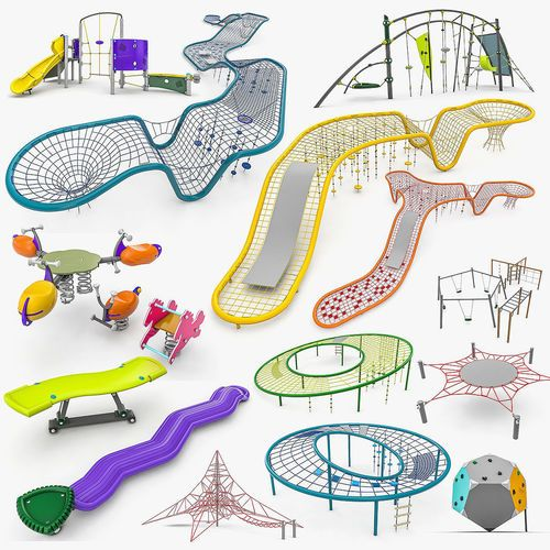 kompan playground equipment - 24 products 3d model  1