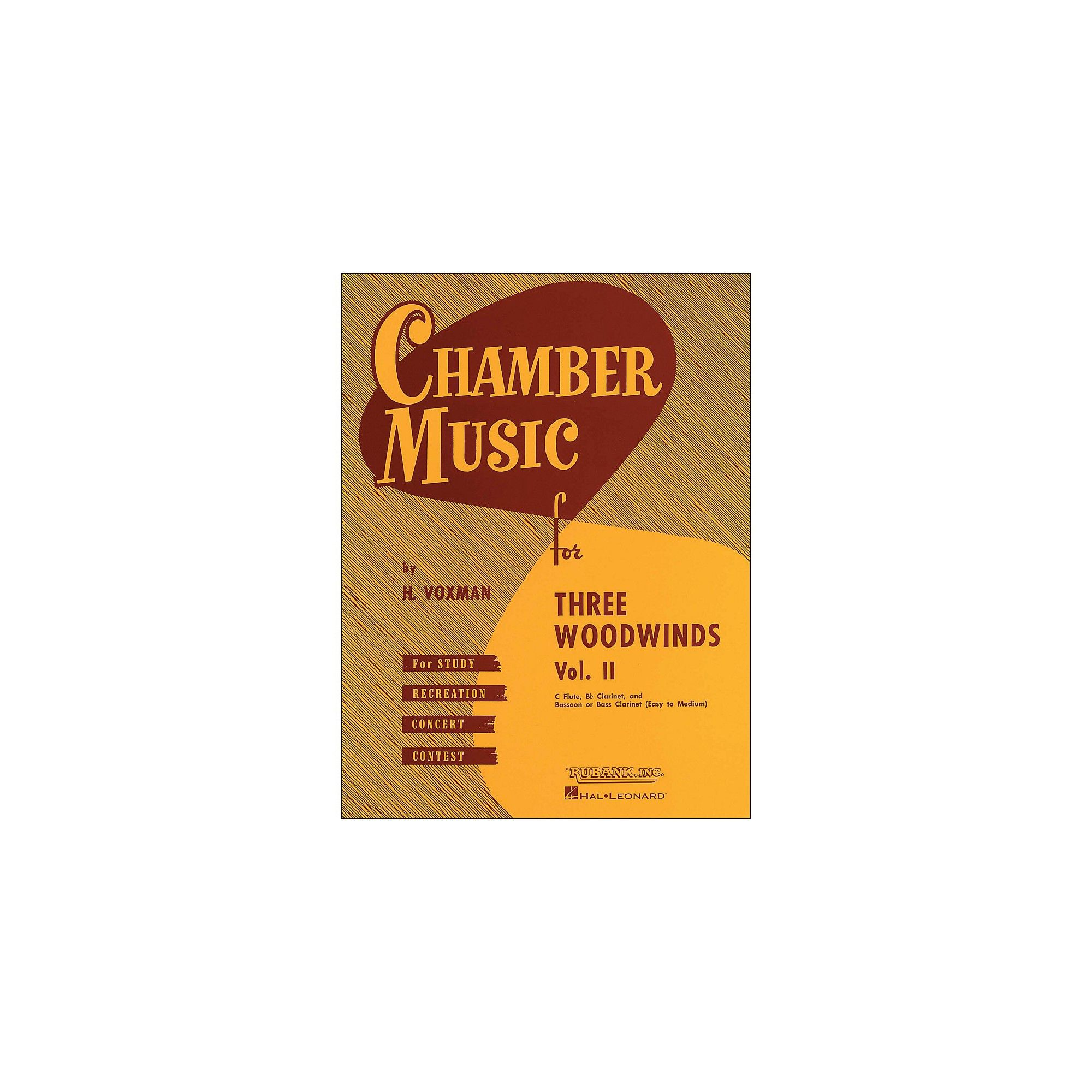 Hal Leonard Chamber Music for Three Woodwinds Vol  2 Easy To