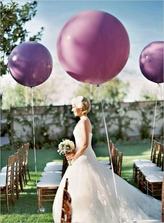 Giant balloons at the ceremony..