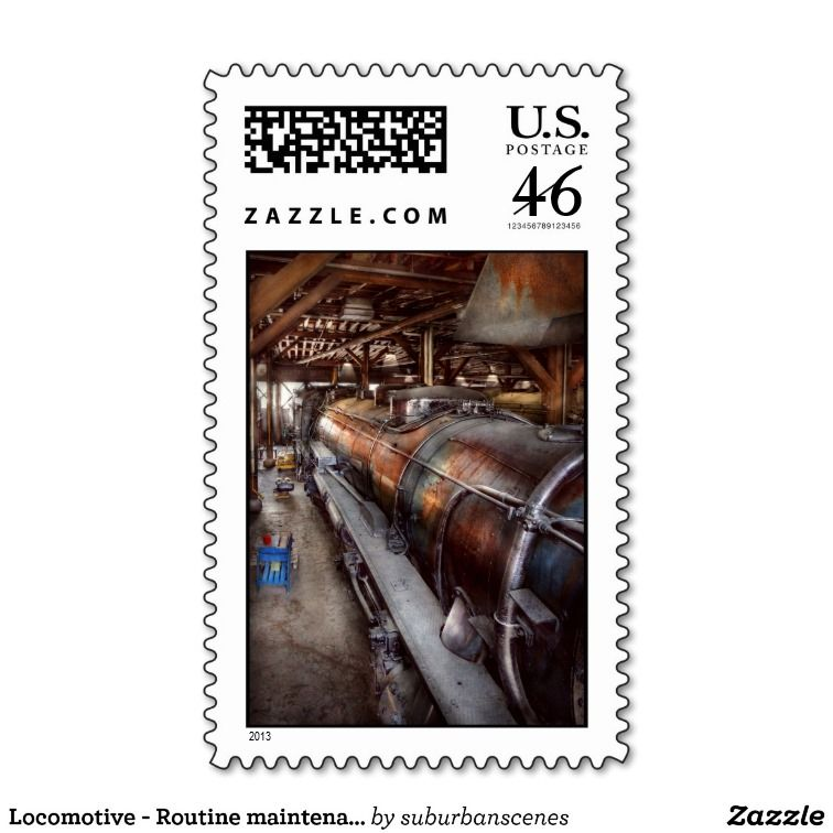 Locomotive - Routine maintenance Postage Stamps #steampunk