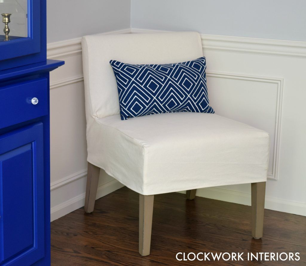 How to make a slipcover for an armless chair