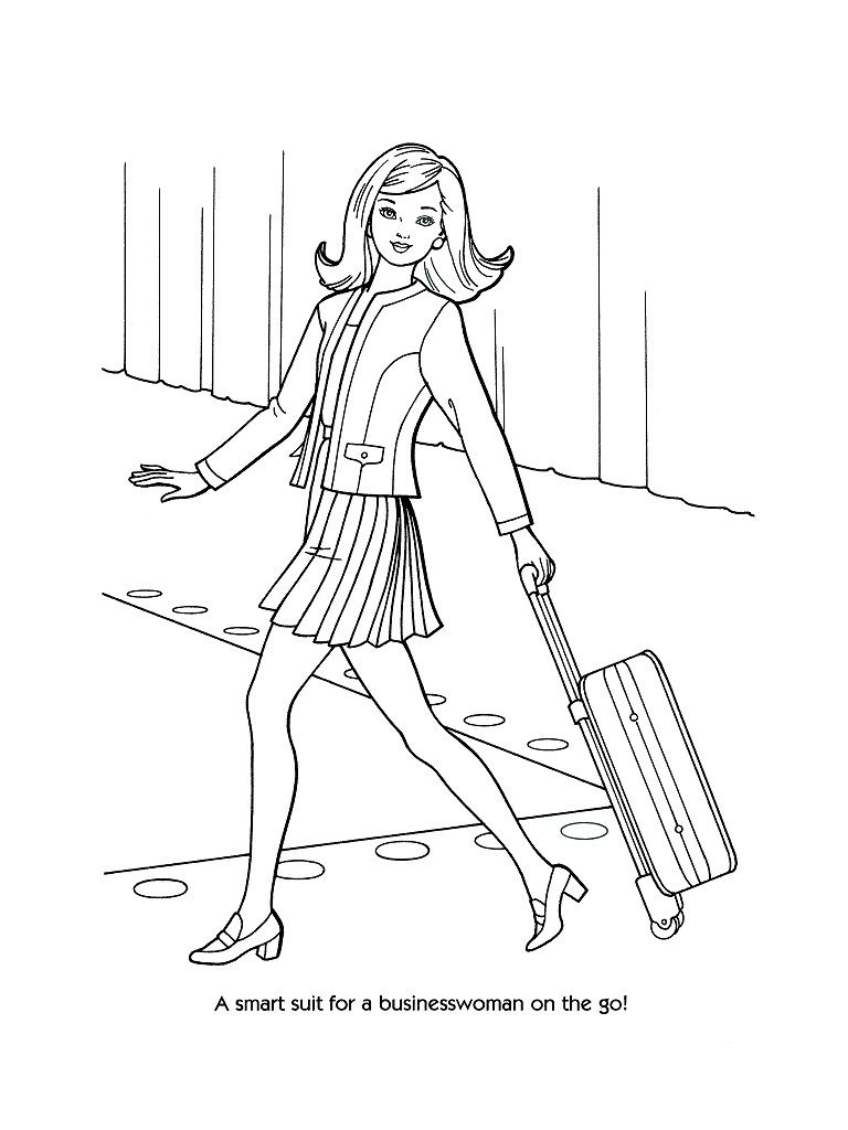 Old Fashioned Barbie Fashion Coloring Pages Photo - Printable ...