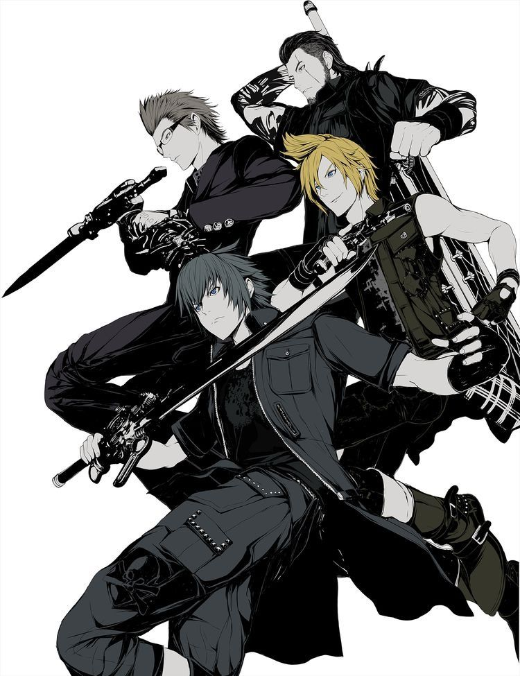 Noctis Prompto Ignis And Gladious Brotherhood Final Fantasy Xv
