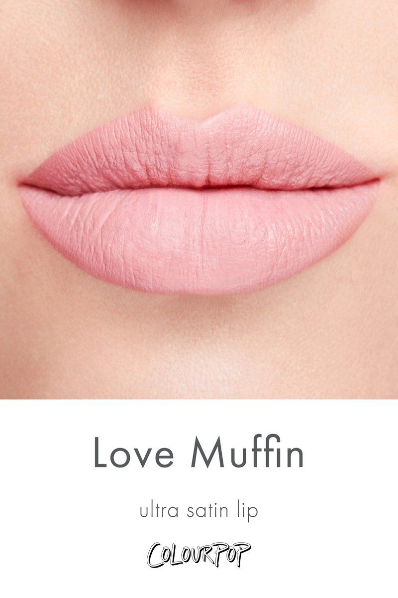 Love Muffin Pastel Baby Pink Ultra Satin Lip Lipstick Swatch On
