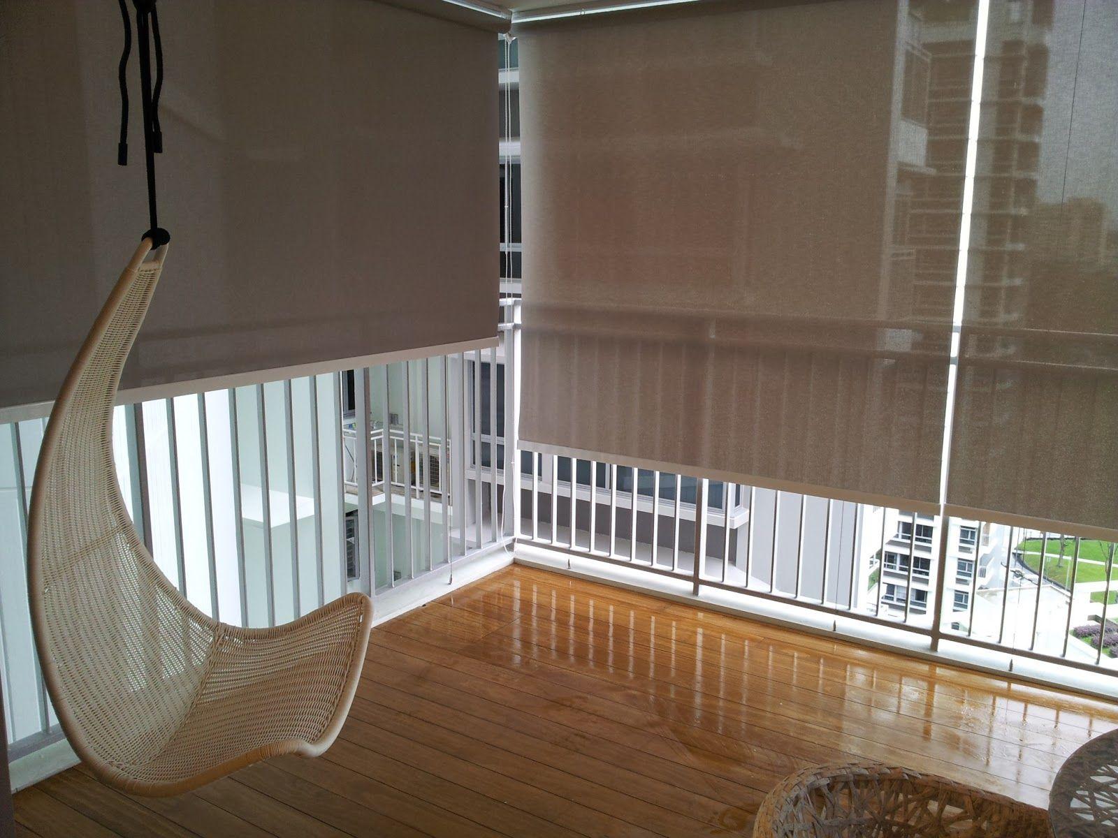 balcony rain curtains blinds design