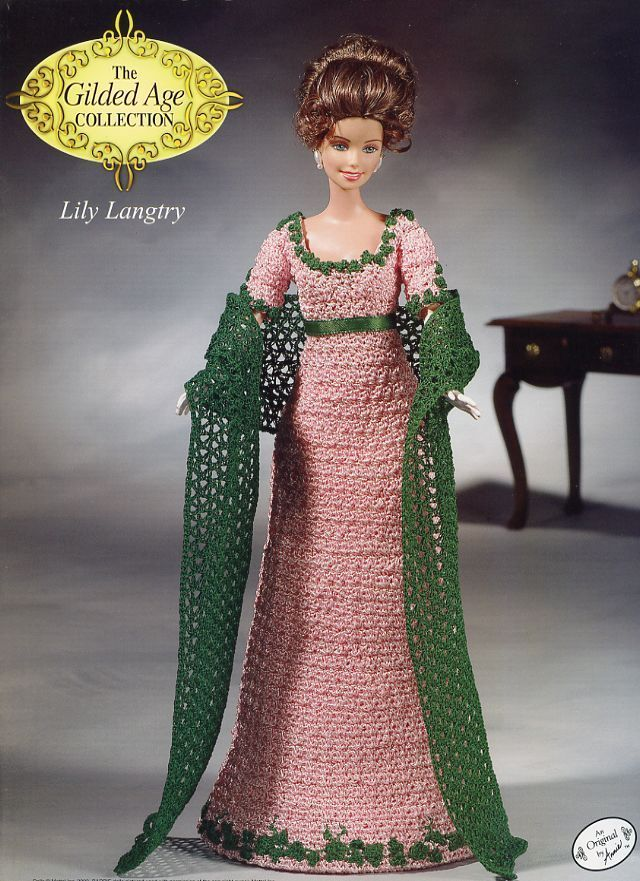 Lily Langtry Outfit for Barbie Annie's Gilded Age Crochet Pattern New RARE | eBay
