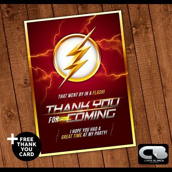 La Invitación De Flash Con Tarjeta De Agradecimiento Gratis
