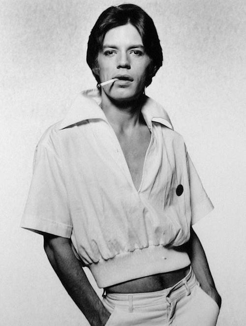 Mick Jagger photographed by Terry O'Neill.