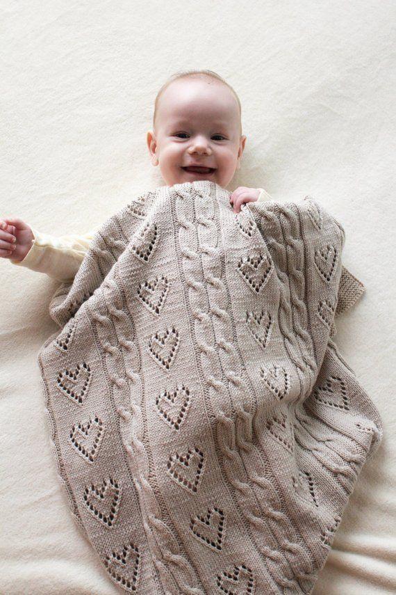 Photo of Hand stricken Baby – Merino Wolldecke Neugeborenen – gestrickte Afghan – Baby-Geschenk – Foto Prop Babydecke – Bestelloptionen