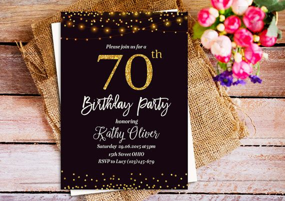 70th birthday party invitations surprise 70th Birthday Party Invite