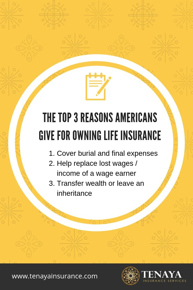 The Top 3 Reasons Americans Give For Owning Life Insurance ...