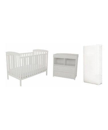 Loving this White Crib & Dresser on #zulily! #zulilyfinds