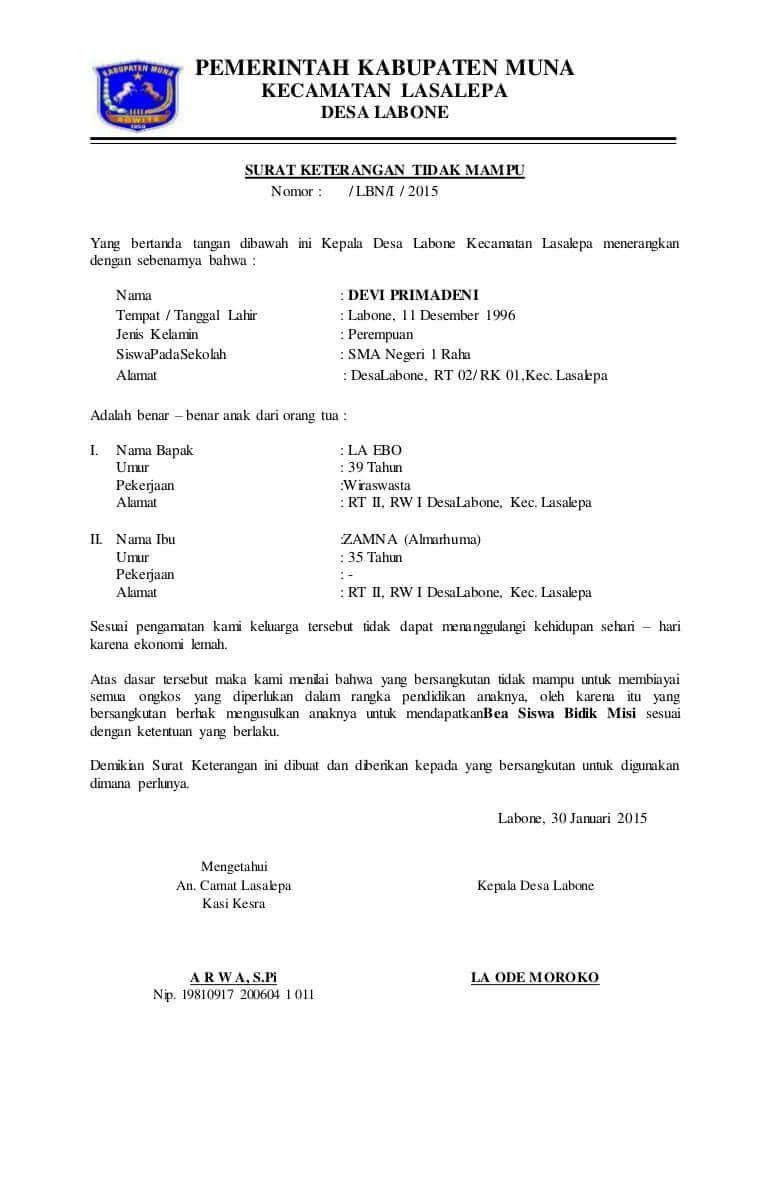 Contoh Surat Pernyataan Bermaterai