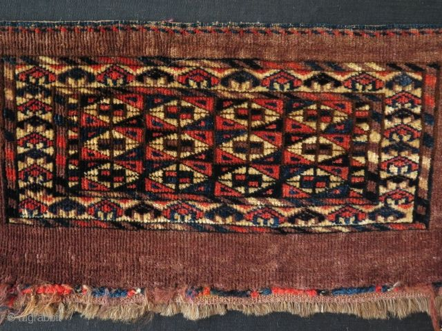 "Turkmen Yomud mini torba. Size: 10.5"" x 18.5"" - 27 cm x 48 cm."