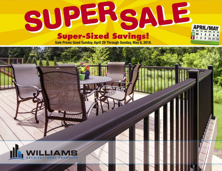 Super Sale At Menards Sale Prices Good Sunday April 29th 2018 Through Sunday May 6th 2018 Save Big Money On Deck Railings Menards Outdoor Furniture Sets