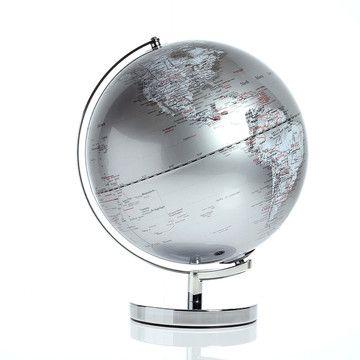 Leuchtglobus ⌀ 30cm Silbern, 99€, jetzt auf Fab.