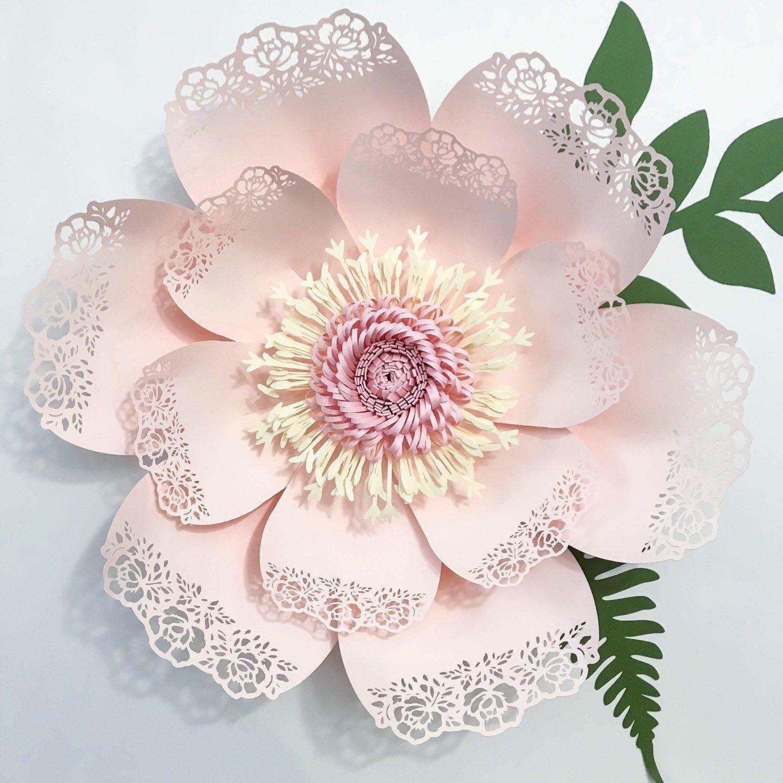 Paper Flowers Petal 3pdf Printablegiant Paper Flower Templates3d