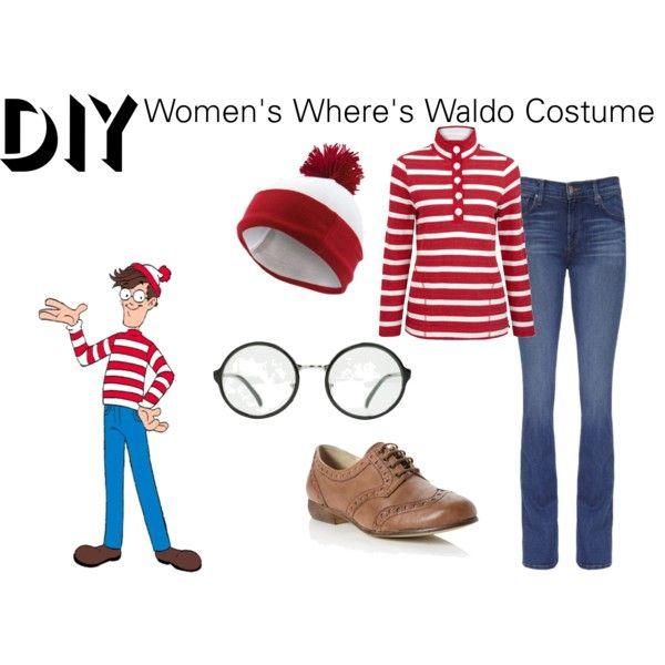 """DIY Women's Where's Waldo Costume"" by reneeward400 on Polyvore"