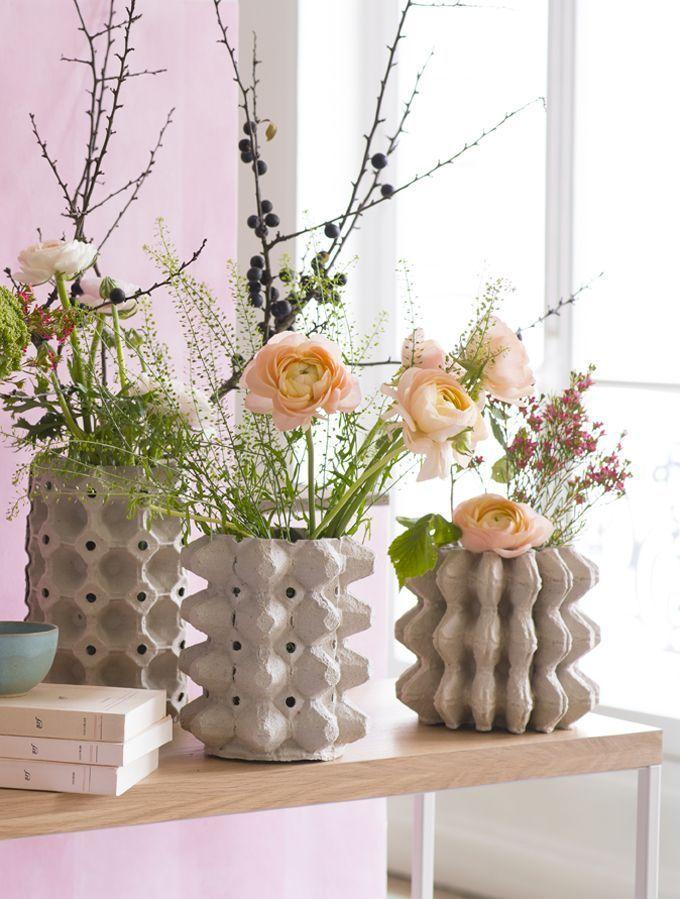 Decoration Create Recycled Cardboard Vases Decoration Carton