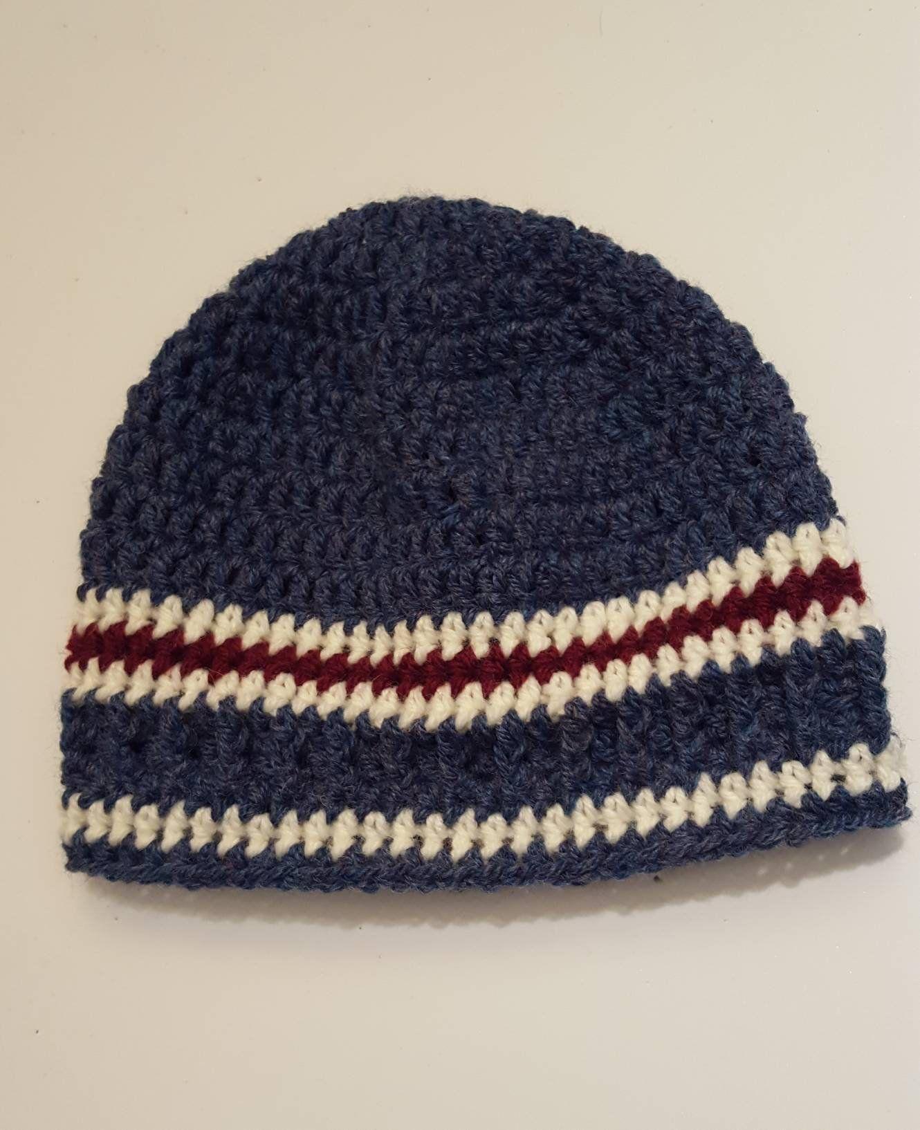 660813554ca The Perfect Beanie! Adult Blue Stripe Beanie Hat