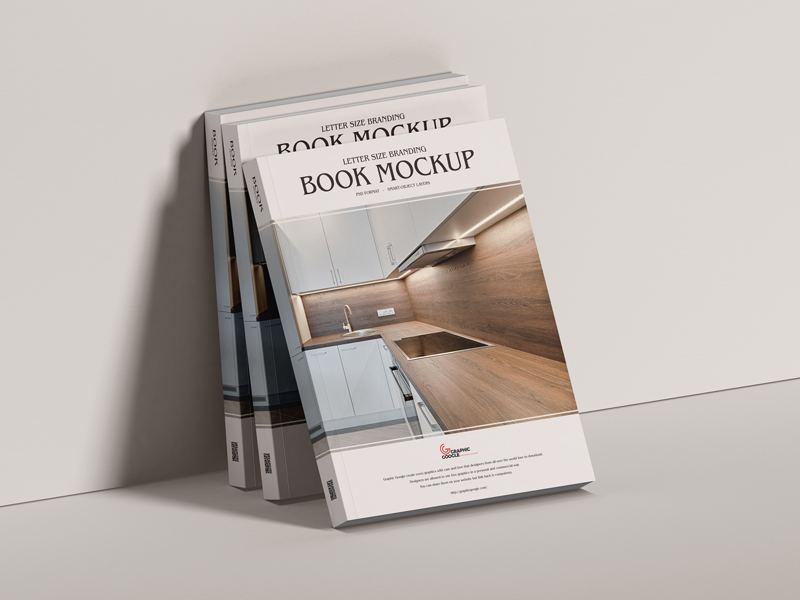 Free Letter Size Branding Book Mockup Graphic Google Tasty Graphic Designs Collectiongraphic Google Tast Book Cover Mockup Mockup Free Psd Free Lettering
