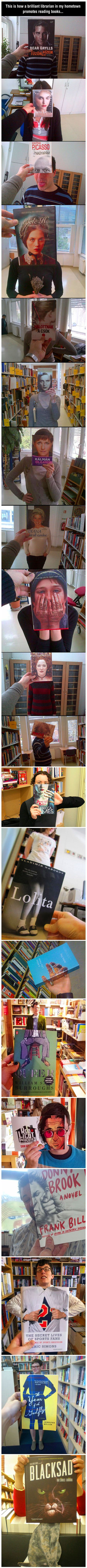 This is how one geeky librarian decided to get people to read.