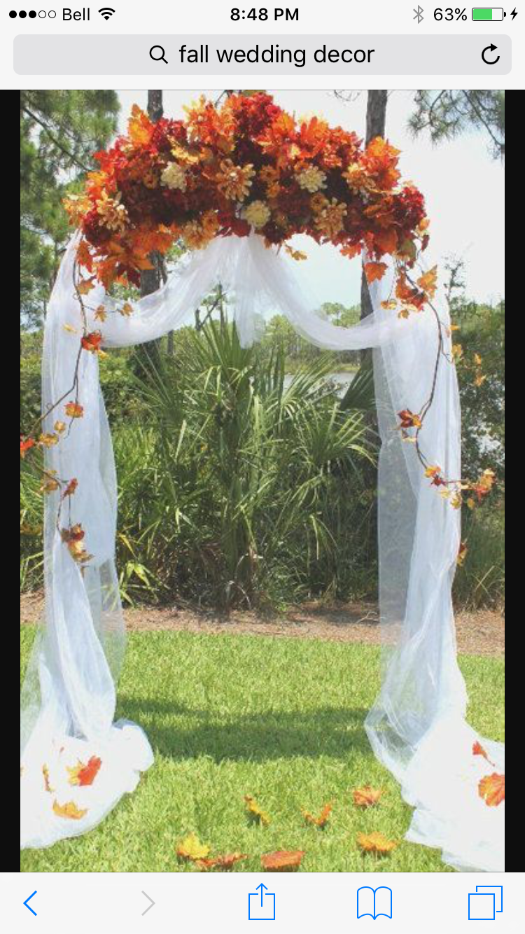 Outdoor fall wedding decor  Pin by Heather LawRootes on Fall OUTDOOR WEDDING  Pinterest
