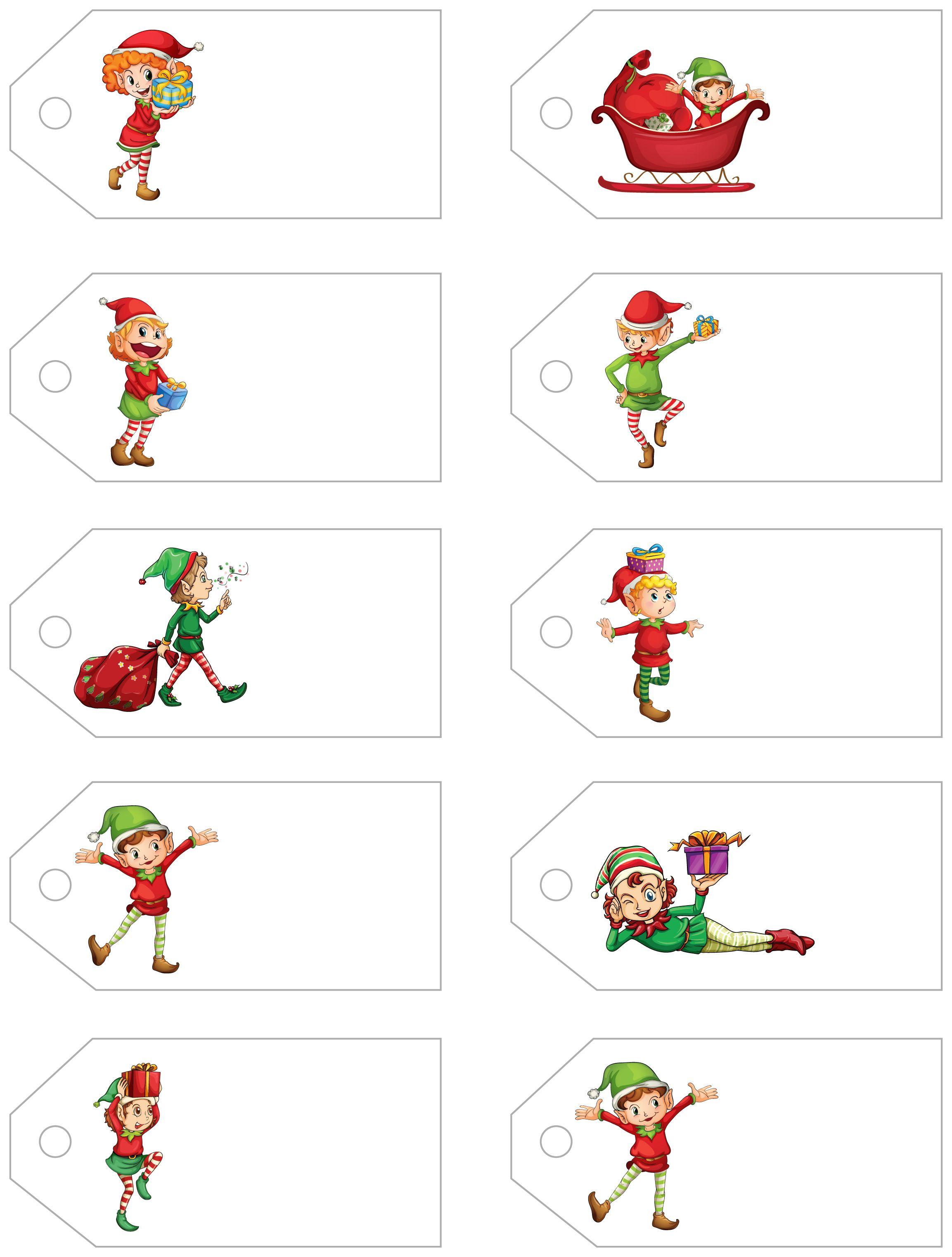 Challenger image regarding free printable christmas gift tags