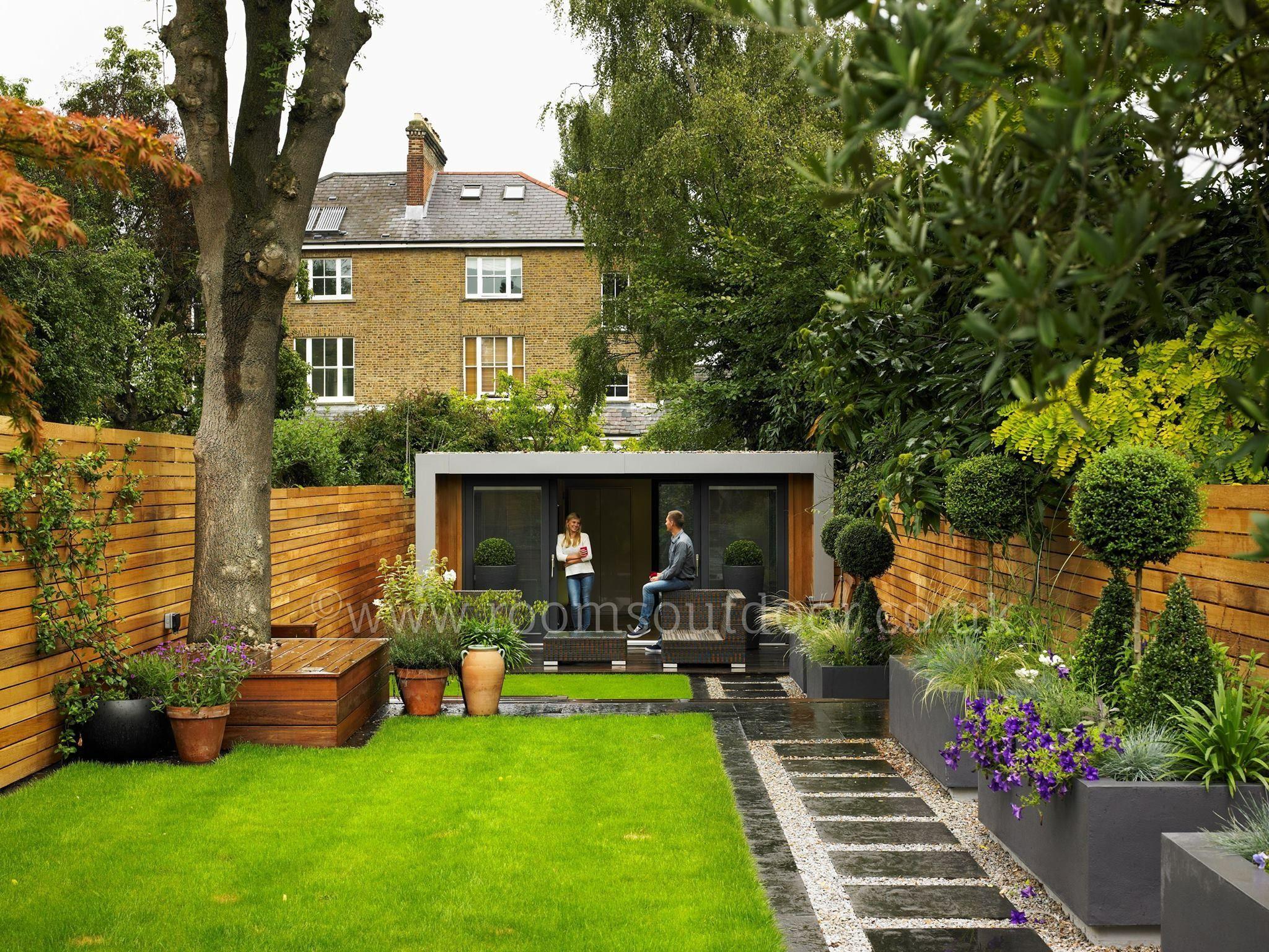 Guesthouse at the bottom of the garden  Outdoor garden rooms