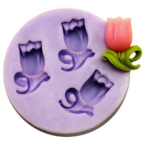DIY Botones Fondant molde decoraci/ón de pasteles de silicona 3d moldes de jab/ón