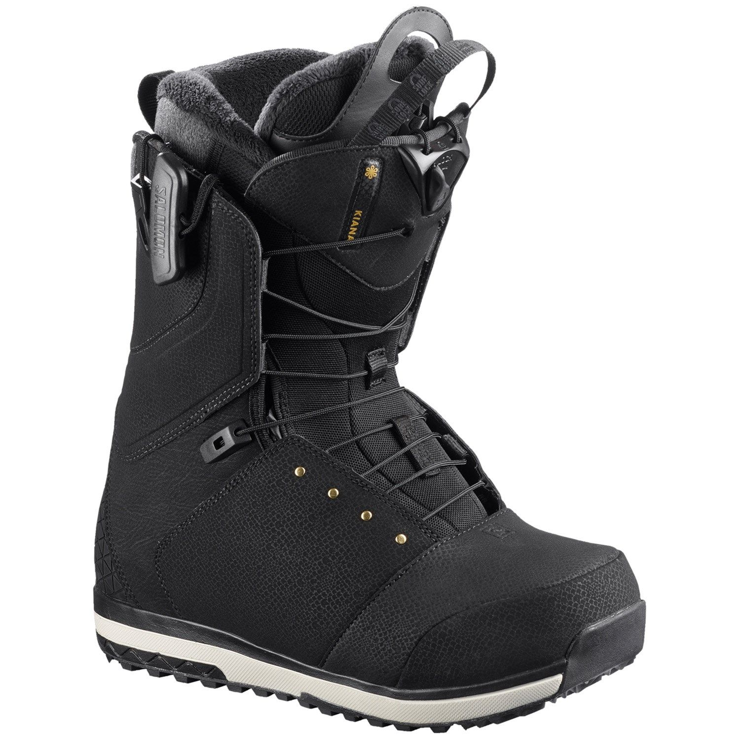Photo of Women's Salomon Kiana Snowboard Boots 2019 – 9 in Black | Rubber